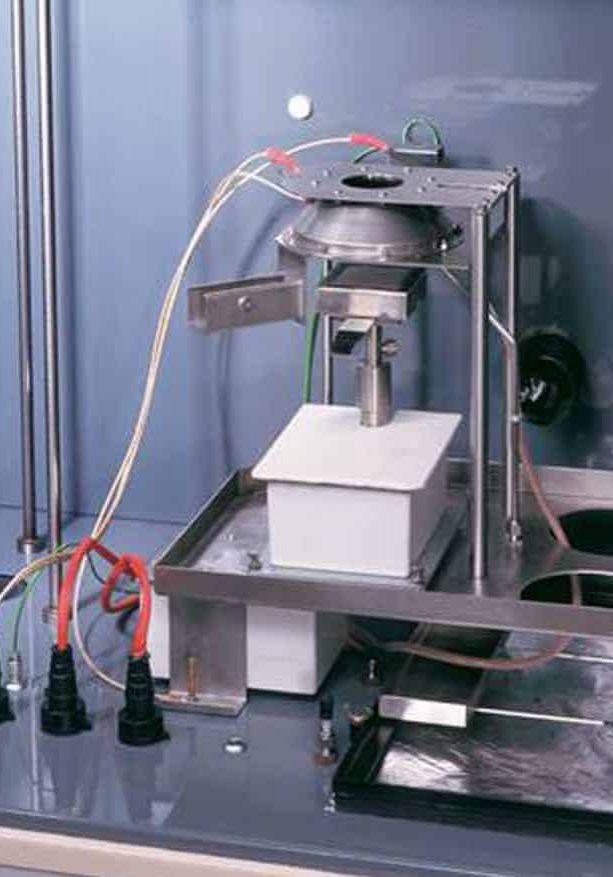 Smoke Density Chamber (Horizontal Test):<br>Conical Radiator Furnace ISO 5659
