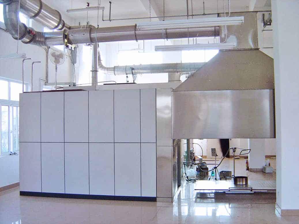 large scale oxygen consumption calorimetry room corner test