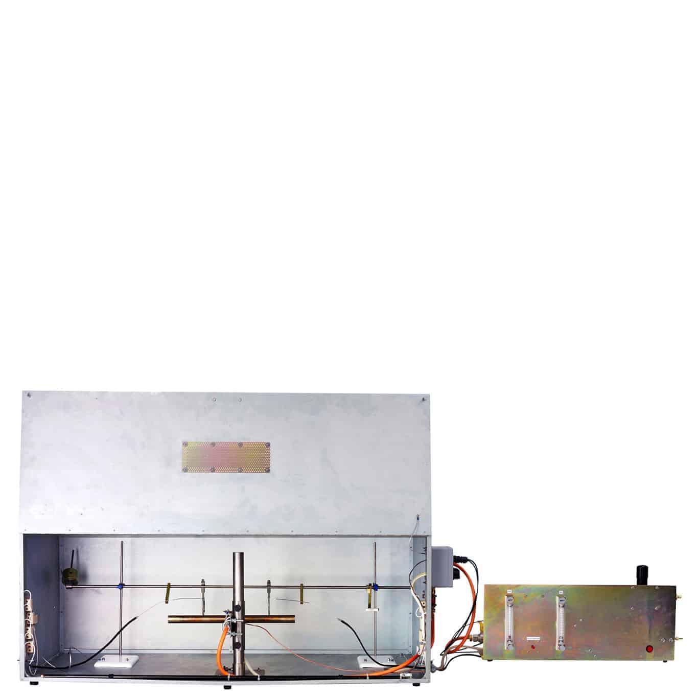 電気ケーブル装置の火炎抵抗特性試験装置
