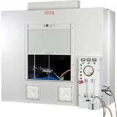 ul 94 chamber for testing flammability of plastic materials for parts in devices and appliances