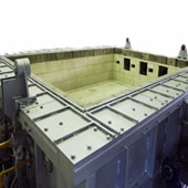 horizontal fire resistance test furnace