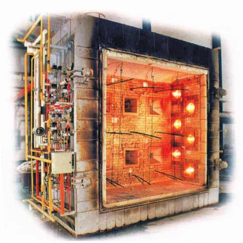 Large Scale Vertical Fire Resistance Test Furnace
