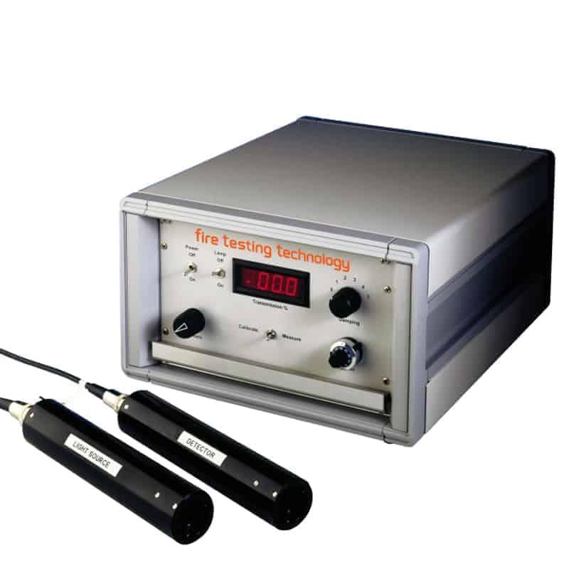 Sistema de medición de humo con luz blanca