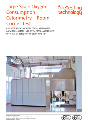 Large Scale Oxygen Consumption Calorimetry – Room Corner Test